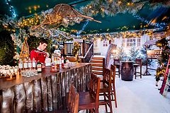 Festive Ski Lodge Party with Finger Buffet Christmas Party in London