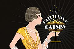 A Glittering Gatsby Christmas Celebration Christmas Party in