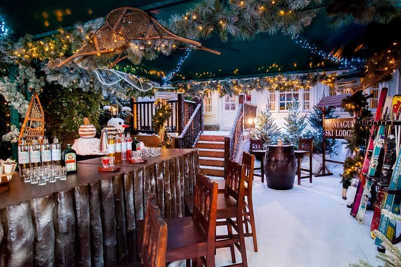 Festive Ski Lodge Party With Finger Buffet